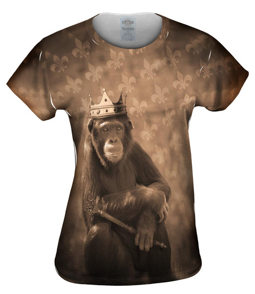 Jungle King Monkey Womens Top