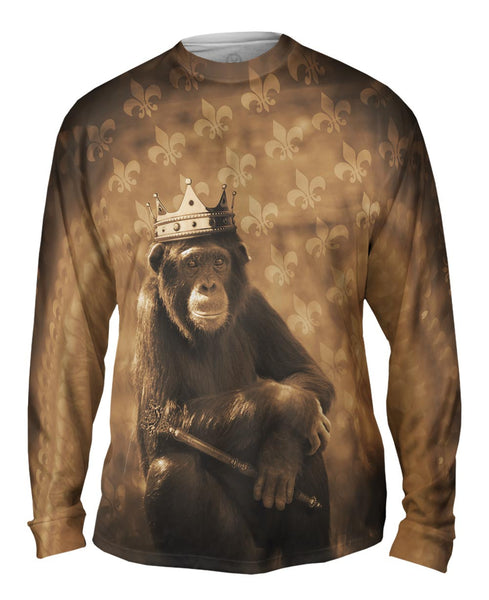 Jungle King Monkey Mens Long Sleeve
