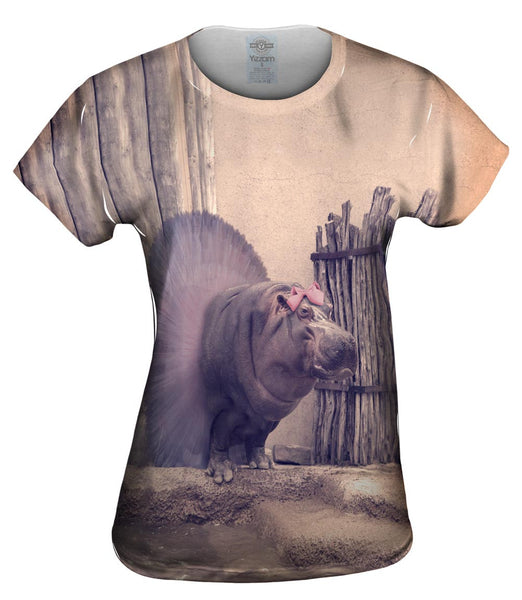 Ballerina Hippo Womens Top