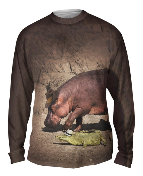 Hippo And Crocodile Walk Mens Long Sleeve