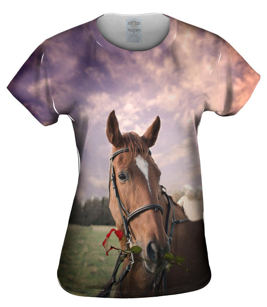 Rose Horse Womens Top