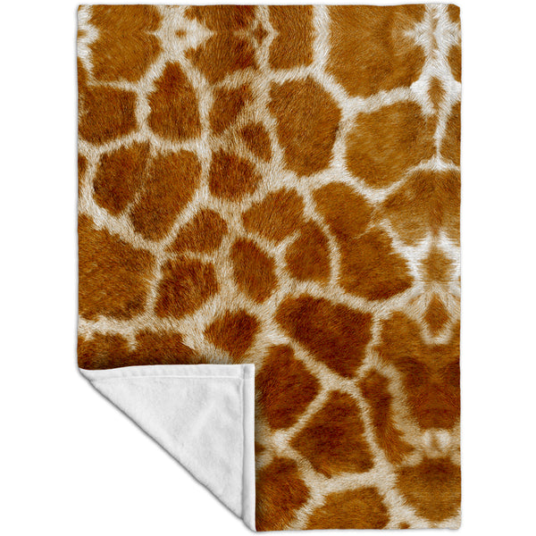 Giraffe skin Fleece Blanket