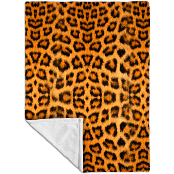 Leopard Skin Fleece Blanket