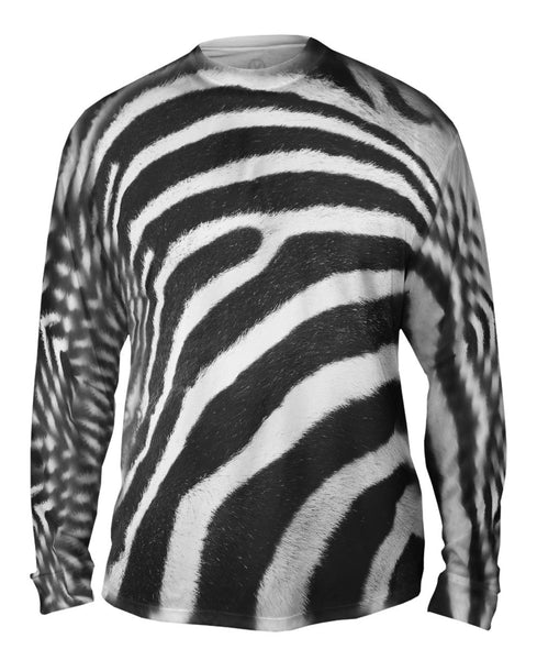 Zebra Skin Mens Long Sleeve