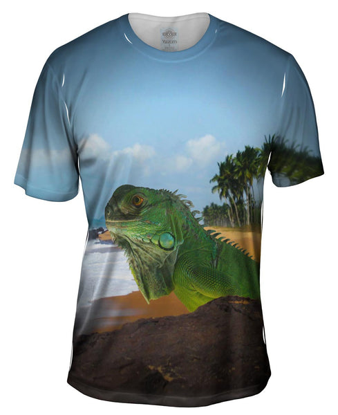 Sun Bath Iguana Mens T-Shirt