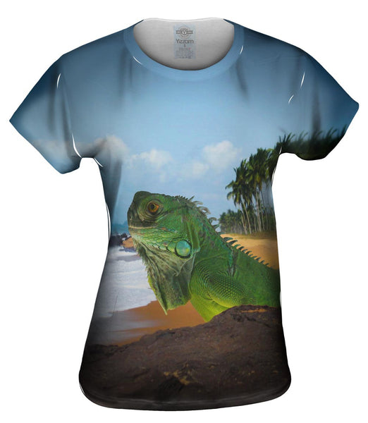 Sun Bath Iguana Womens Top