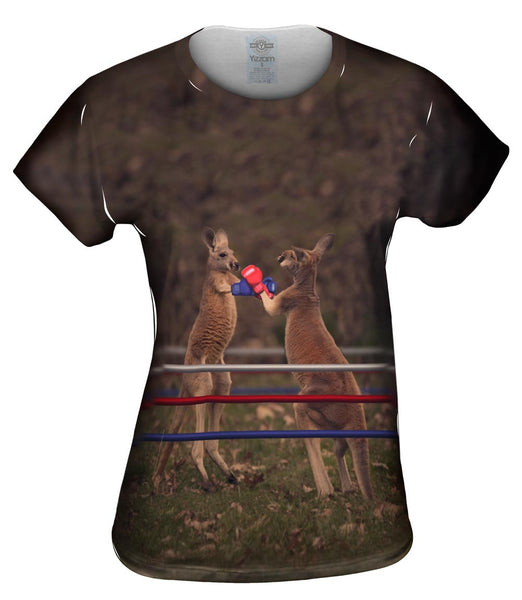Boxing Kangaroo Womens Top