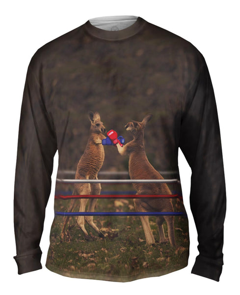 Boxing Kangaroo Mens Long Sleeve