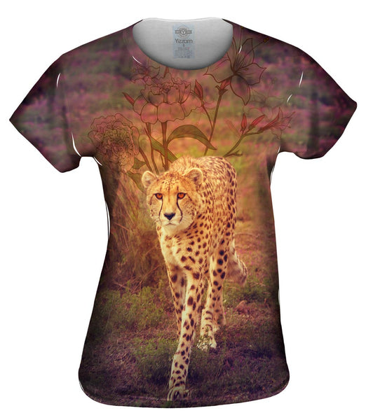 Flower Cheetah Womens Top