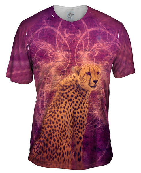 Violet Eyes Cheetah Mens T-Shirt