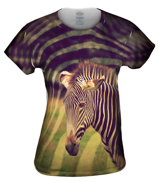 Zebra Face Womens Top