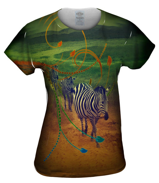 Zebra Path Womens Top