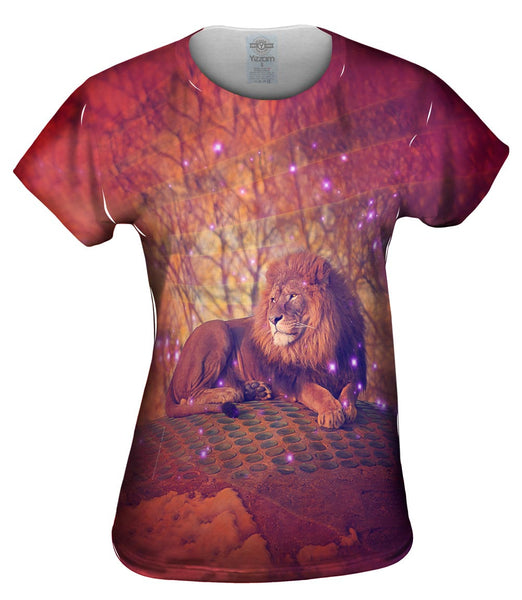Sunset Lion Womens Top
