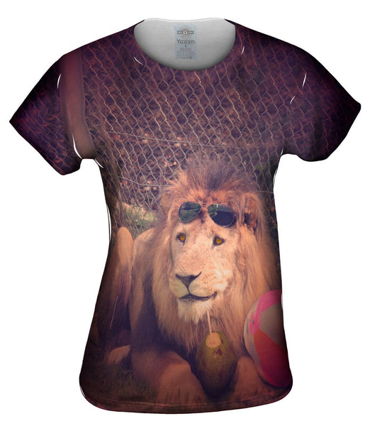 Holiday Smiling Lion Womens Top