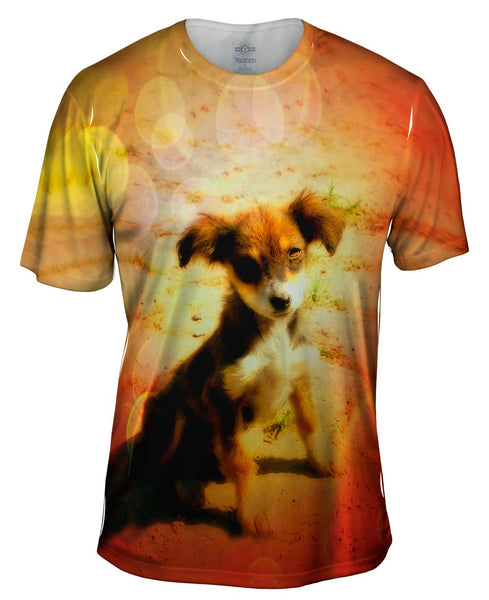 Sun Sad Puppy Mens T-Shirt