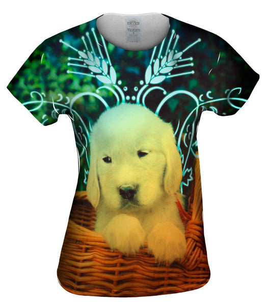 Glow Basket Puppy Womens Top