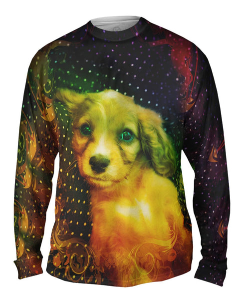 Dot Couch Puppy Mens Long Sleeve