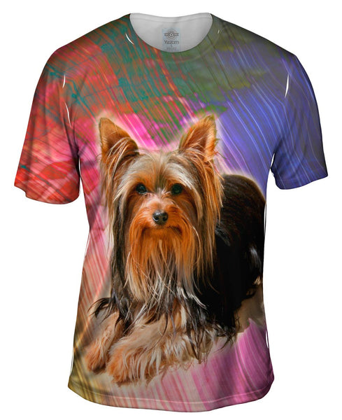 Brick Yorkie Puppy Mens T-Shirt