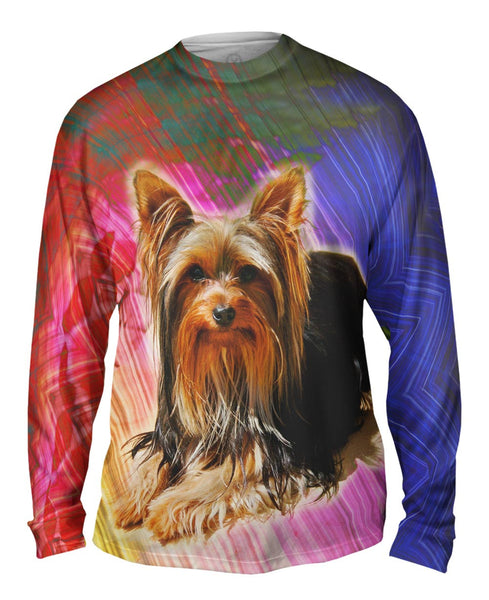 Brick Yorkie Puppy Mens Long Sleeve