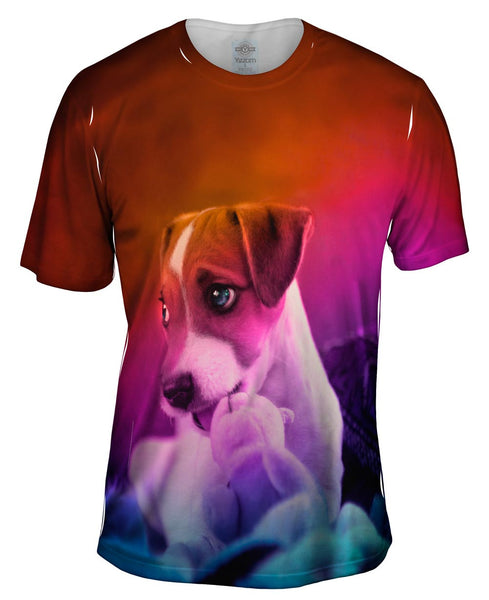 Parson Terrier Puppy Mens T-Shirt