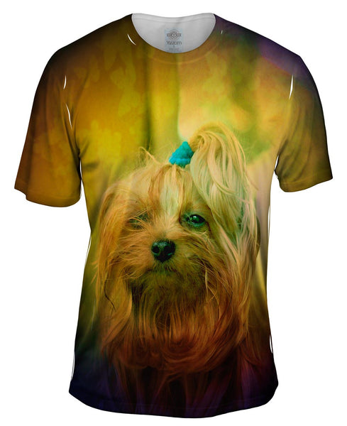 Blink Yorkie Puppy Mens T-Shirt