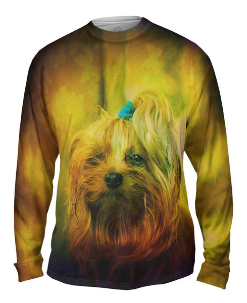 Blink Yorkie Puppy Mens Long Sleeve