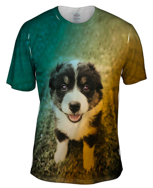 Cute Herd Puppy Mens T-Shirt