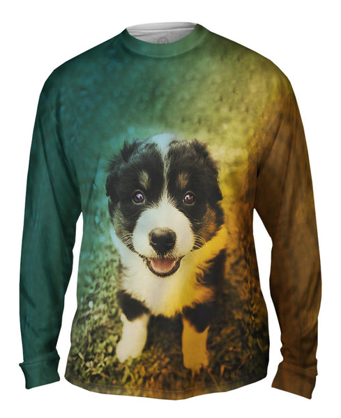 Cute Herd Puppy Mens Long Sleeve