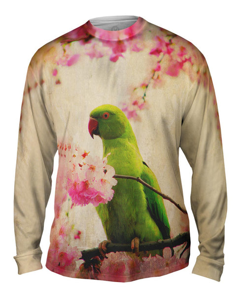 Blossom Parakeet Mens Long Sleeve