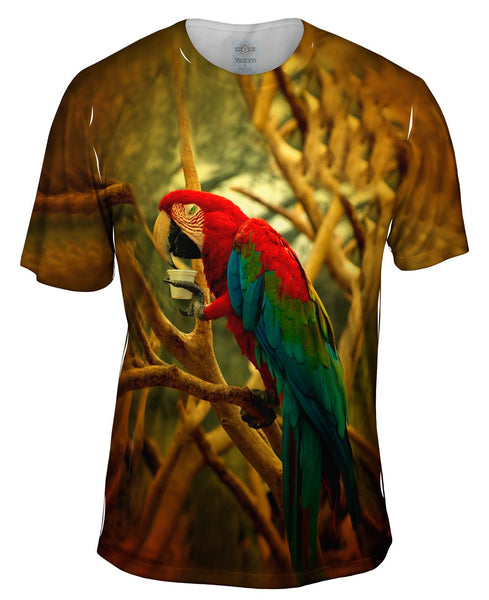 Cafe Macaw Mens T-Shirt