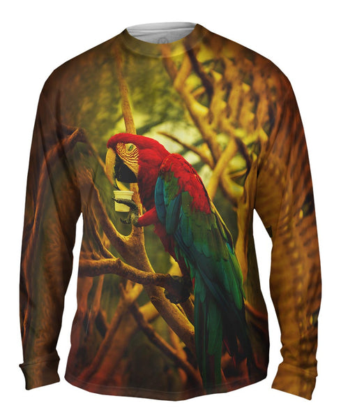 Cafe Macaw Mens Long Sleeve