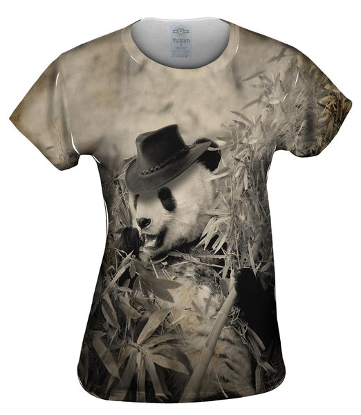Bamboo Cowboy Panda Womens Top