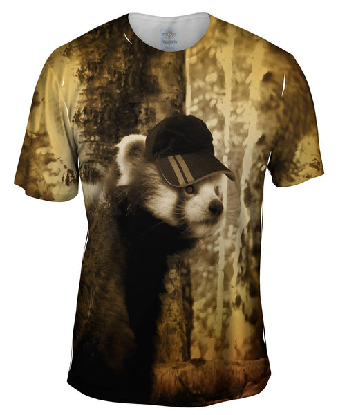 Cap Red Panda Mens T-Shirt