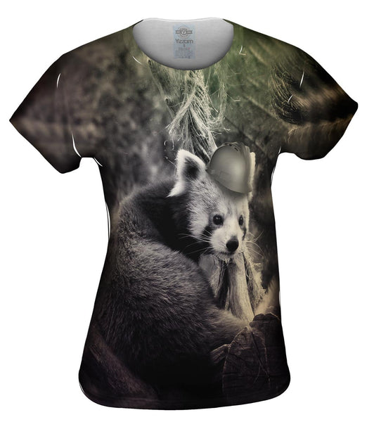 Construction Hat Red Panda Womens Top