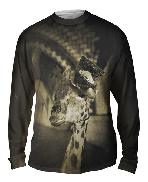 Subway Giraffe Mens Long Sleeve