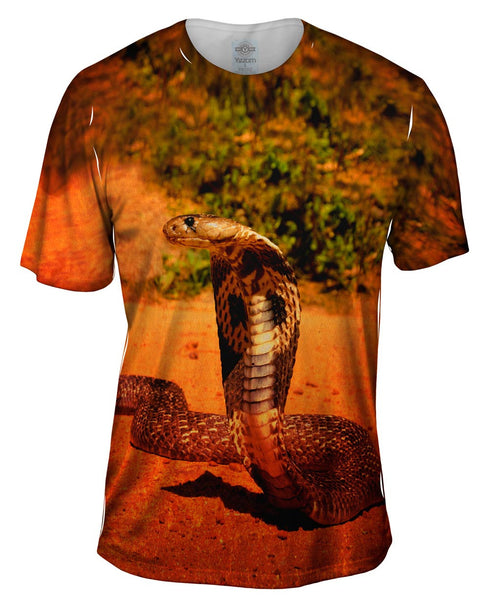 Orange Cobra Mens T-Shirt