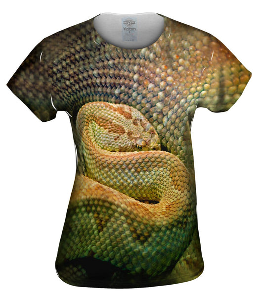 Watchful Rattle Snake Womens Top