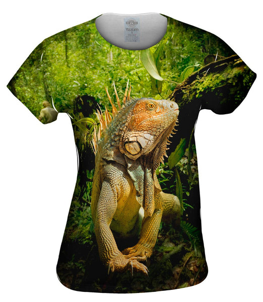 Deep Jungle Iguana Womens Top