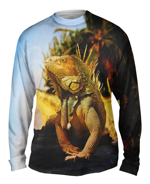 Coast Beach Iguana Mens Long Sleeve