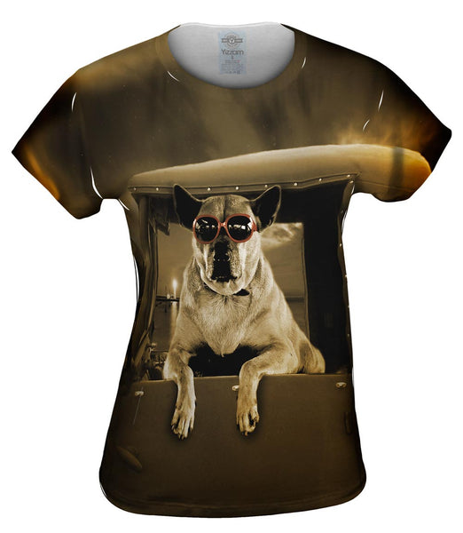 Pick-Up Truck Dog Womens Top