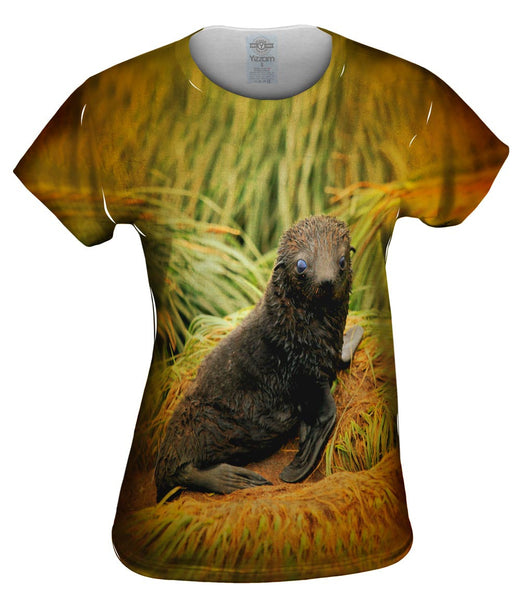 Black Grass Seal Womens Top
