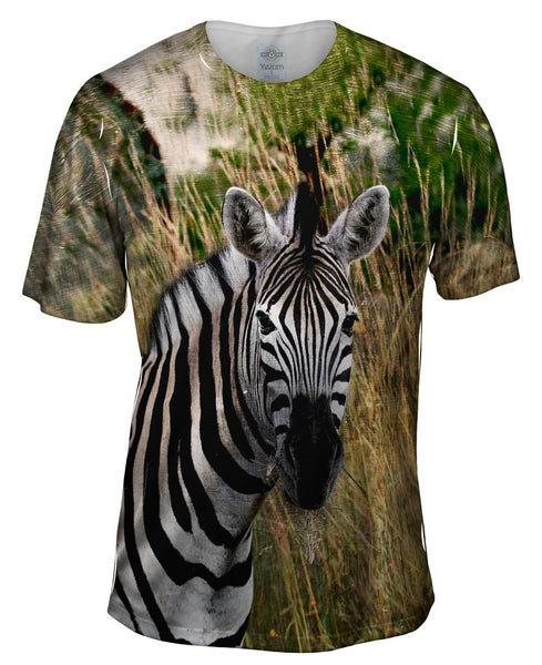 Vintage Metal Zebra Mens T-Shirt