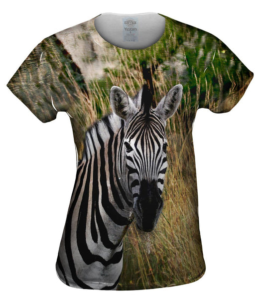 Vintage Metal Zebra Womens Top