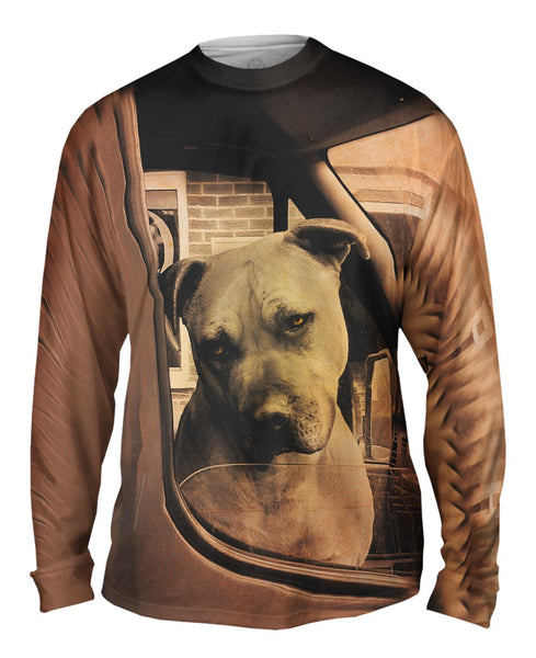Driving Boxer Dog Mens Long Sleeve