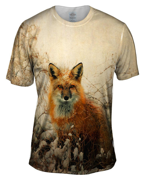 Vintage Snow Fox Mens T-Shirt