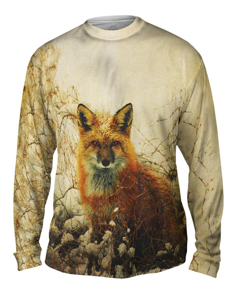Vintage Snow Fox Mens Long Sleeve