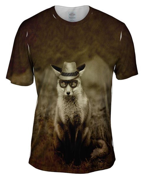Leer Fedora Fox Mens T-Shirt