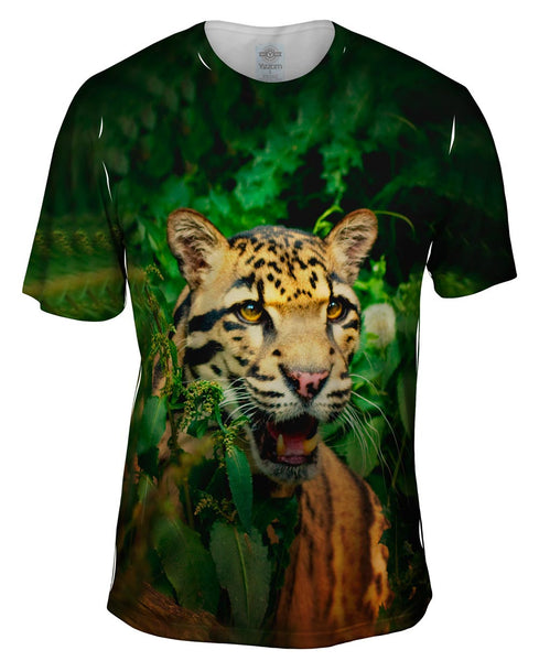 Clouded Leopard Jungle Mens T-Shirt