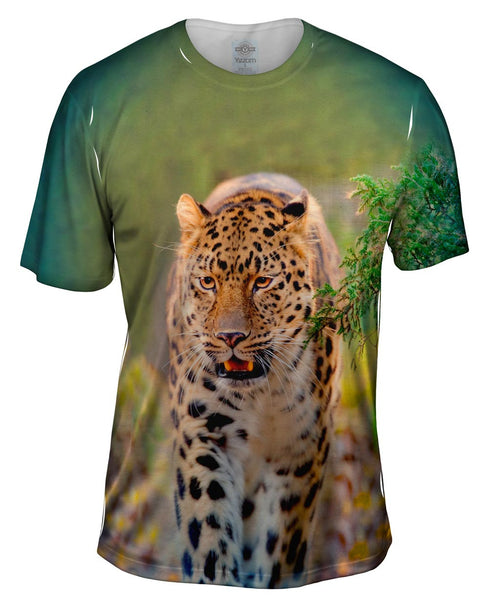 Amur Leopard Jungle Mens T-Shirt