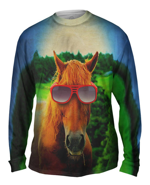 Red Horse Beauty Mens Long Sleeve